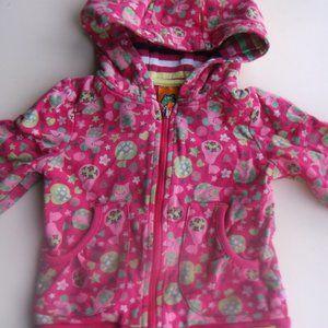 Pink Floral Hooded Vest Girl 2T